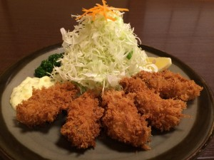 季節限定 広島県産カキフライ定食 1750円